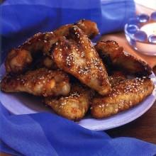 Φτερούγες με σουσάμι και μέλι