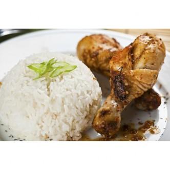 Μαριναρισμένο κοτόπουλο στο φούρνο με ρυζι