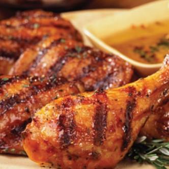 Ψητό κοτόπουλο με Waster Sauce, μέλι και χυμό πορτοκάλι